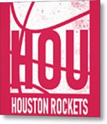 Houston Rockets City Poster Art Metal Print
