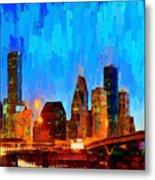Houston Skyline 102 - Pa Metal Print