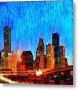 Houston Skyline 110 - Pa Metal Print