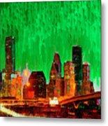 Houston Skyline 112 - Pa Metal Print