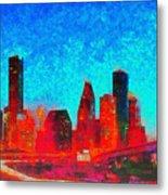 Houston Skyline 131 - Pa Metal Print