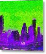 Houston Skyline 43 - Pa Metal Print