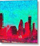 Houston Skyline 44 - Pa Metal Print