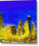 Houston Skyline 45 - Pa Metal Print