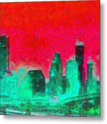 Houston Skyline 47 - Pa Metal Print