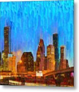 Houston Skyline 80 - Pa Metal Print