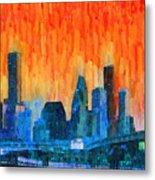 Houston Skyline 81 - Pa Metal Print