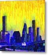 Houston Skyline 83 - Pa Metal Print