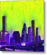 Houston Skyline 84 - Pa Metal Print