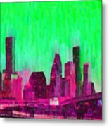 Houston Skyline 86 - Pa Metal Print