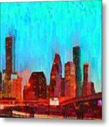 Houston Skyline 87 - Pa Metal Print