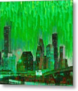 Houston Skyline 96 - Pa Metal Print