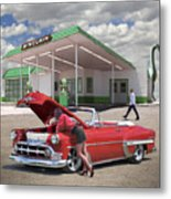Over Heating At The Sinclair Station Metal Print
