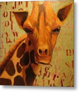 How Do You Spell Giraffe? Metal Print