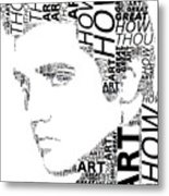 How Great Thou Art Elvis Wordart Metal Print