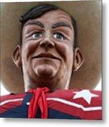 Howdy Folks - Big Tex Portrait 02 Metal Print