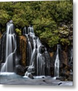 Hraunfossar In The Gloom Metal Print