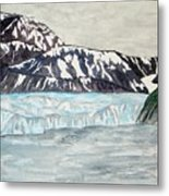 Hubbard Glacier In July Metal Print