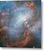 Hubble Captures The Beating Heart Of The Crab Nebula Metal Print