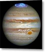 Hubble Captures Vivid Auroras In Jupiter's Atmosphere Metal Print