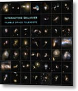 Hubble Galaxy Poster Metal Print