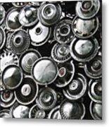 Hubcap City Metal Print