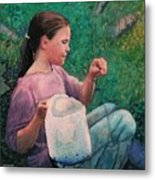Huckleberry Picker Metal Print by Robert Bissett