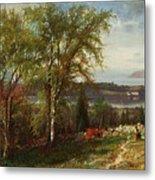 Hudson River At Croton Point Metal Print
