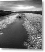 Hudson River In Winter Metal Print