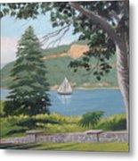 Hudson River Schooner Metal Print
