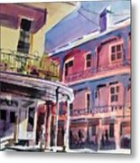 Hues Of The French Quarter Metal Print