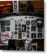 Huey Instrument Panel Metal Print