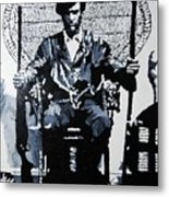 Huey Newton Minister Of Defense Black Panther Party Metal Print