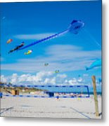 Huge Kites Delray Beach Metal Print