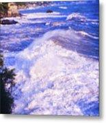 Huge Wave In Ligurian Sea Metal Print