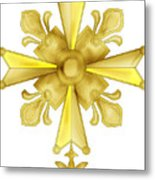 Huguenot Golden Cross Metal Print