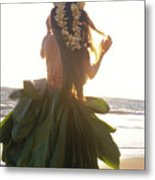 Hula At Sunrise Metal Print