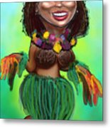 Hula Dancer Metal Print