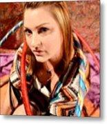 Hula Girl 2 Metal Print