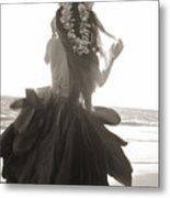 Hula Girl Metal Print