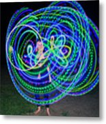 Hula Hoop In Light Metal Print