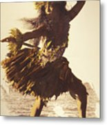 Hula In A Ti Leaf Skirt Metal Print