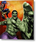 Hulk Metal Print by Pete Tapang