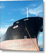 Hull Of Vessel Haydar At Anchor Metal Print
