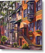 Hull Street In Chippewa Square Savannah Metal Print