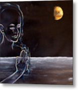 Human Spirit Moonscape Metal Print