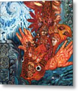 Humanity Fish Metal Print
