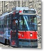Humber Bound Streetcar On Queen Street Metal Print