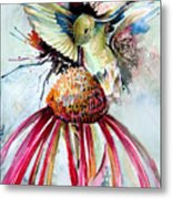 Humming Bird Metal Print by Mindy Newman