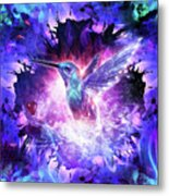 Hummingbird Love Metal Print